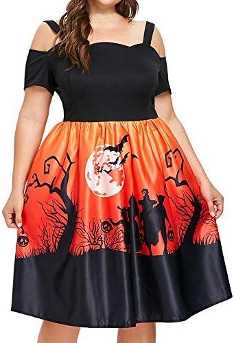 ハロウィン ワンピース コスプレ 仮装 大人 レディース 肩出し 半袖 コウモリ かぼちゃ デビル aライン ドレス 洋装 洋服