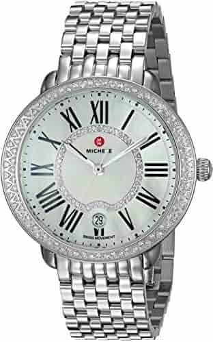 MICHELE Women's 'Serein' Swiss Quartz Stainless Steel Casual Watch, Color:Silver-Toned (Model: MWW21B000030)
