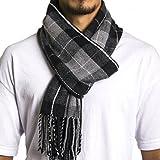 Alpine Swiss Winter Scarf Soft Elegant Fashion Wrap Scarves Gray Plaid