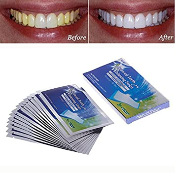 Amazon Com 14pairs New Teeth Whitening Strips Gel Care Oral Hygiene