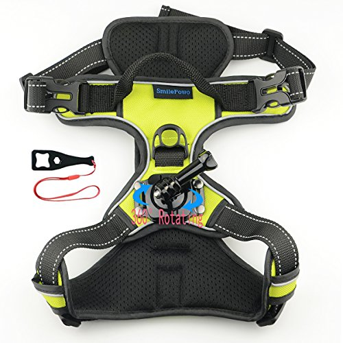Harness Action (SmilePowo Big Dog Harness,Dog Harness Mount Chest Strap Mount For GoPro Hero6,5 Black,HERO (2018),Hero 5,4,3,Hero Session,GoPro Fusion,Xiaomi,DBPOWER,AKASO,Lightdow,Sports Action Camera)