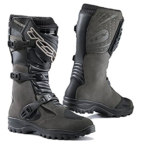 TCX Track EVO WP Men's Street Motorcycle Boots - Grey / US 8.5 / Size 42