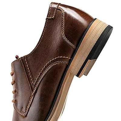 JOUSEN Men's Oxford Retro Leather Formal Dress Shoes | Oxfords