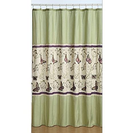 Amazon Embroidered Fabric Butterfly Shower Curtain Home Kitchen