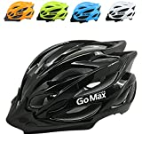 GoMax Aero Adult Safety Helmet Adjustable Road Cycling Mountain Bike Bicycle Helmet Ultralight Inner Padding Chin Protector and visor w/ Adjust Dial also for Kids 12+