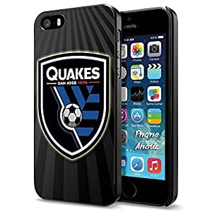Soccer MLS SAN JOSE EARTHQUAKES SOCCER CLUB FOOTBALL FC Logo, Cool iPhone 5 5s Smartphone Case Cover Collector iphone Black