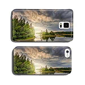 Sunset over a scandinavian coastal landscape cell phone cover case iPhone5