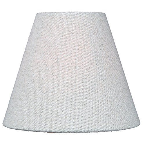 3x6x5 Chandelier Sand Linen Clip-On Lampshade By Home Concept - Perfect for chandeliers, foyer lights, and wall sconces ()