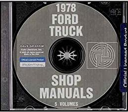 1978 ford pickup truck factory repair shop service manual cd rh amazon com 1978 ford f150 service manual pdf 1978 Ford F100