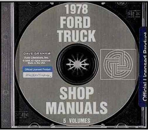1978 FORD PICKUP & TRUCK FACTORY REPAIR SHOP & SERVICE MANUAL CD - F100, F150, F250, F350, BRONCO 78 ()