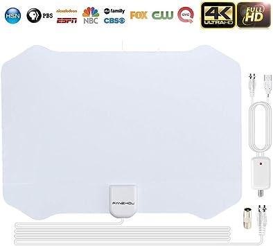 Antenas de Television Digital 4K 1080P DVB-T Antena tv Interior 80 ...