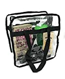 Premium Clear Bag - NFL Stadium Approved Large Tote Bag Zippered For Security - Quality Design for Concerts & Games - 12'' x 12'' x 6''