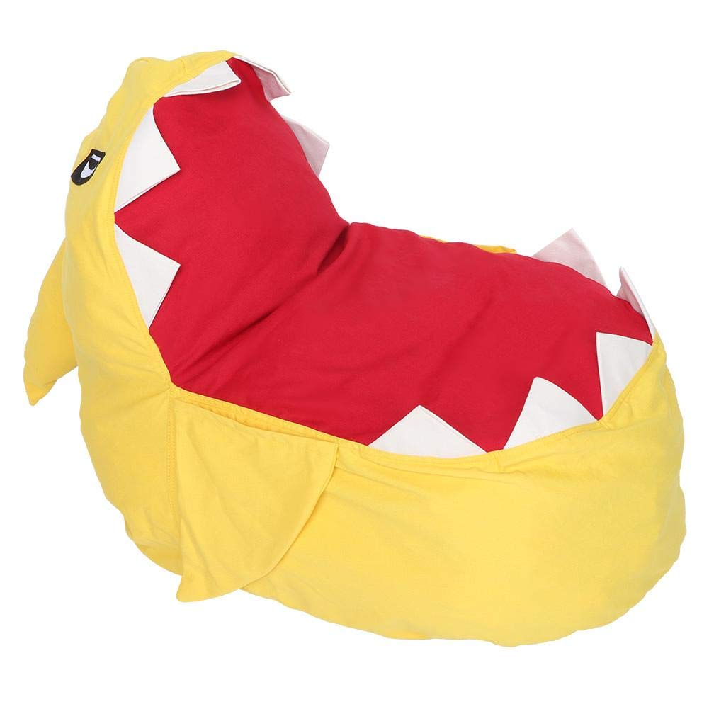 Green Large Bean Bag Stuffed Chair Shark Appearance Toys Storage Organizer for Soft Toys Plush Toys Giant Pouf Organizer 31.5 19.69inch 31.5