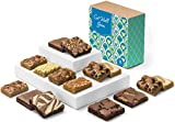 Fairytale Brownies Get Well Bar & Brownie Combo Gourmet Chocolate Food Gift Basket - 3 Inch Square Full-Size Brownies and 3 Inch x 2 Inch Blondie Bars - 15 Pieces - Item CJ381