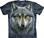 The Mountain Adult Unisex T-Shirt - Warrior Wolf