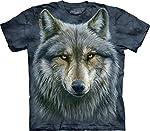 The Mountain Adult Unisex T-Shirt - Warrior Wolf