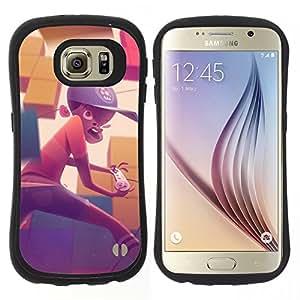 """Pulsar iFace Series Tpu silicona Carcasa Funda Case para Samsung Galaxy S6 , Pintura Boy Gaming Computer Sombrero Arte Niño"""""""