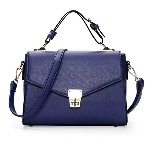 Primavera Bolso Pequeño Cerradura Bolsos Coreano Moda Portátil Bolso Del Mensajero Hombro Bolso Cuadrado Pequeño Blue