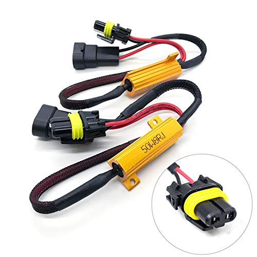 O-NEX LED Resistor Kit HB4 9006 Relay Harness Adapter 50W 8 Ohm Anti Flicker Error Decoder Warning Canceller (fits: 9005, 9145, H10)