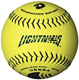 DeMarini Lightning USSSA Men's Classis C Series Slowpitch Synthetic Leather Softball (12-Pack), 12-Inch, Optic Yellow