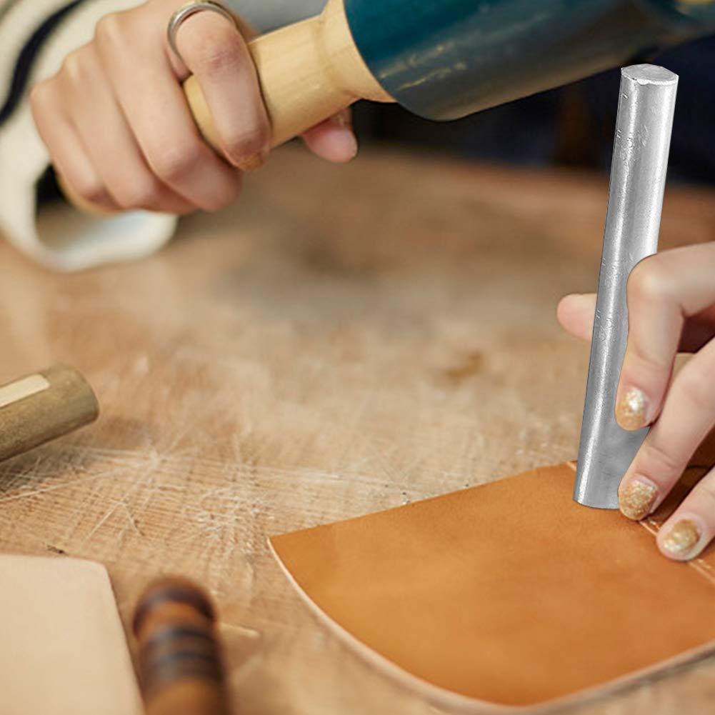 perforadora para manualidades cartera bolso 8 herramientas de corte de piel en forma de V para cintur/ón punta de cuero correas