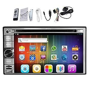 AUX Pupug Top GPS Navi Android HD 4.2.2 universal de 2 din pantalla Unidad de DVD del coche DVD GPS Wifi Bluetooth Radio HD 1GB DDR3 CPU t¨¢ctil capacitiva Jefe coche 3G est¨¦reo 1.2 GB Car audio Monitor de plata DVD DVD Monitor Audio