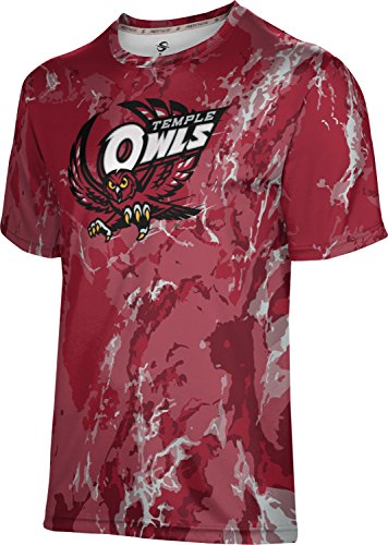 ProSphere Temple University Men's Performance T-Shirt (Marble) FAB82 (X-Large) Cherry Red and Black