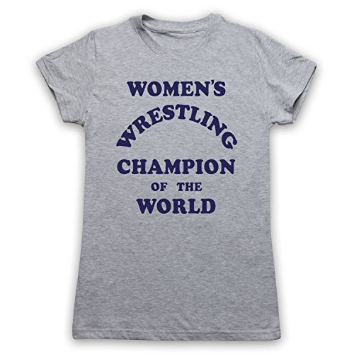 Women's Wrestling Champion Of The World Camiseta para Mujer Vintage Grey