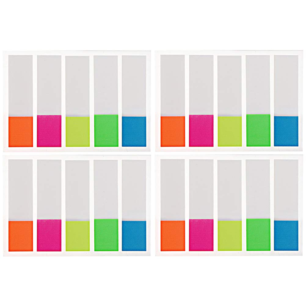 wotu 400 Pcs Page Marker, Sticky Notes Flags Index Tabs Assorted Neon Colors for Marking Highlighting