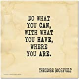 ECHO-LIT, LLC Do What You Can Motivational Poster Featuring a Quote by Theodore Roosevelt. Eco-Friendly Art Print
