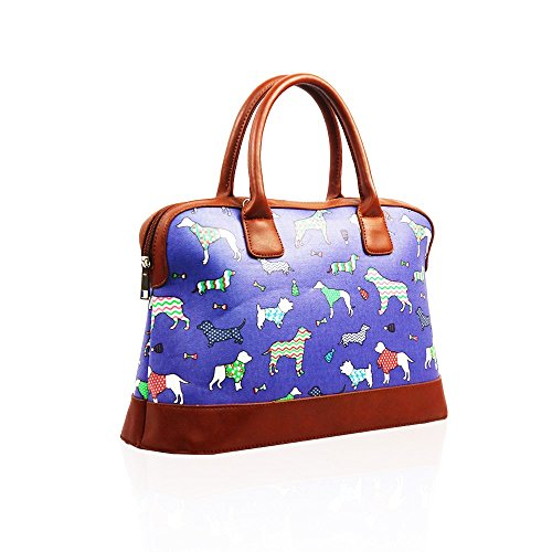 Bag Hb Purple Multicolor Multicolored Style Bowling Style Woman CCnPqzv