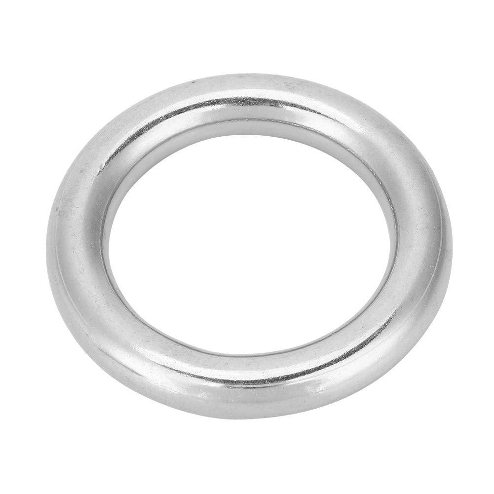 50mm Acero inoxidable anillo de O-304 soldados de acero inoxidable marina del barco anillo soldado de grado marino O Anillo redondo del c/írculo pulido 12