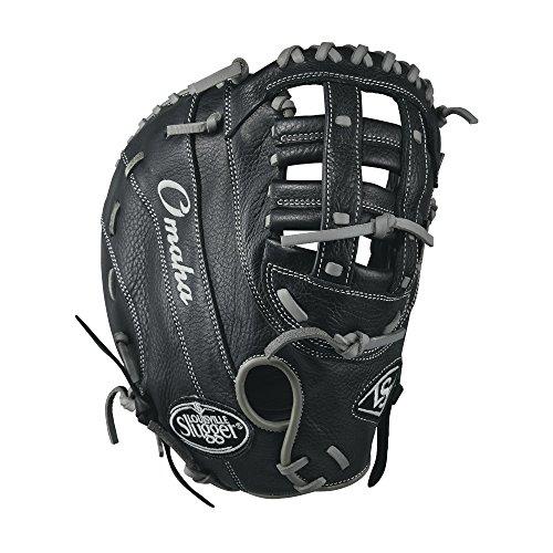 Louisville Slugger Omaha 1B Baseball Gloves, Left Hand, 12', Black/Gray