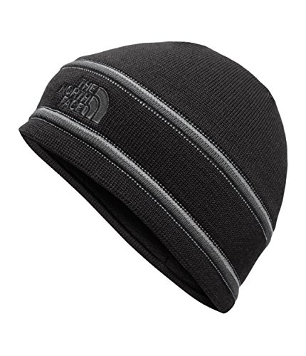 The North Face Logo Beanie, TNF Black/Graphite Grey, One Size