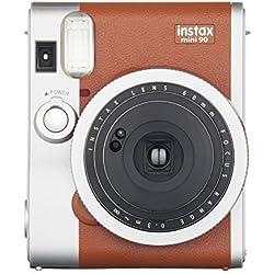 Fujifilm Instax Mini 90 Brown Fotocamera Istantanea per Stampe Formato 62 x 46 mm, Marrone/Argento