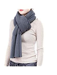 Knit Scarf Arm Knit Infinity Scarf for Women - Winter Wool Scarf Womens Grey