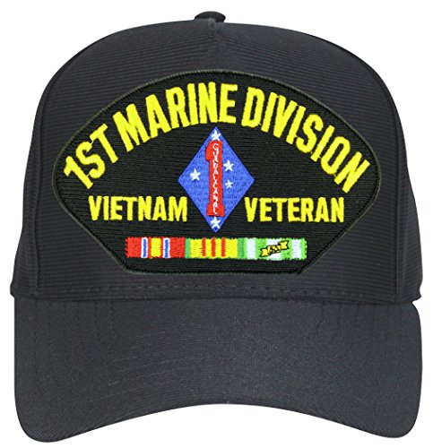 MilitaryBest 1st Marine Division Vietnam Ball Cap Hat (Marine Hat Division)