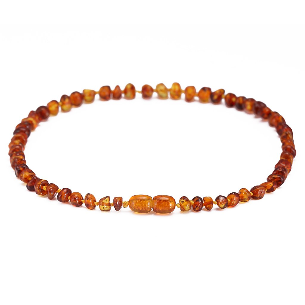 Unisex 8 Inches Cicis Story Baltic Amber Bracelet//Anklet - Handcrafted Authentic Amber Cognac Raw Lab-Tested
