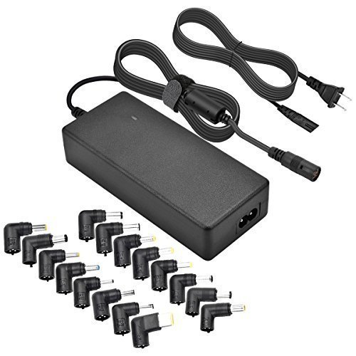 Universal Laptop Charger, CUGLB 90W 15V 16V 18.5V 19.5V 20V AC Power Adapter Selectable Tips for HP Dell IBM Toshiba Lenovo ASUS Sony Acer Samsung Fujitsu Gateway Notebook Ultrabook Supply Cords (Laptop 90w Charger)