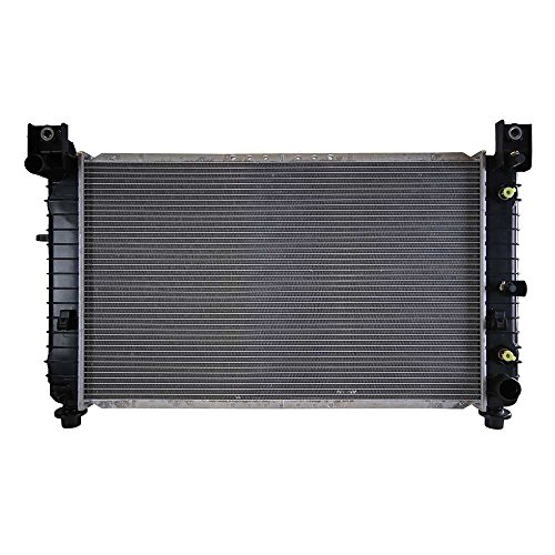 (Prime Choice Auto Parts RK878 Aluminum Radiator w/28 1/4 Inches Between)