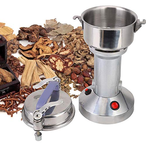 Yinhing Grain Grinder Mill, 100g Stainless Steel Electric high-Speed Grain Grinder Mill Family Powder Cereals Dry Mill Grinder Pulverizer Gift for mom, Wife(US)