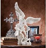 Design Toscano Bonded Marble St. Michael the Archangel Angel Statue