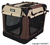 EliteField 3-Door Folding Soft Dog Crate, Indoor & Outdoor Pet Home, Multiple Sizes and Colors Available (30