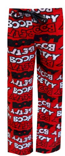 ogo Lettering Classic Red Plush Lounge Pants (Large) ()
