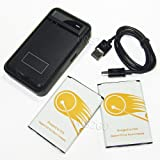 (URS2GO Combo Pack) 2X 4000mAh LG G Stylo LS770 H631 MS631 H634 Replacement Battery + Special Battery Charger Kit for Home, Office or Travel, Never Run Out of Power + Micro USB Sync Cable Cord