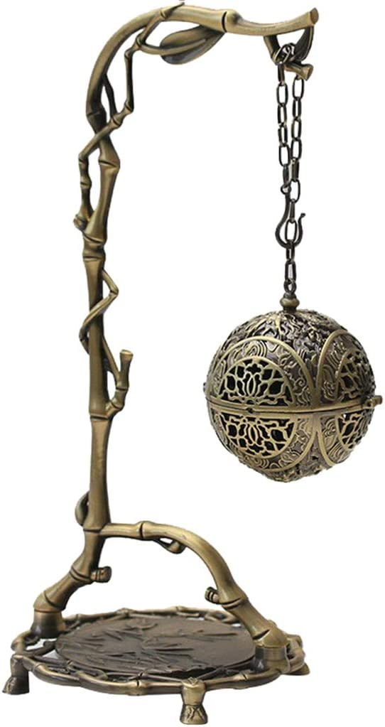 LOVIVER Chinese Hanging Incense Burner Office Bedroom Lucky Feng Shui Decorations - Bronze