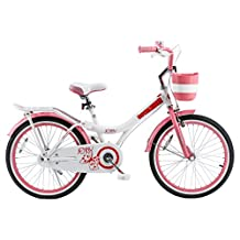 Royalbaby Jenny Princess Pink Girl's Bike with Kickstand and Basket, Perfect Gift for Kids, 20 inch wheels