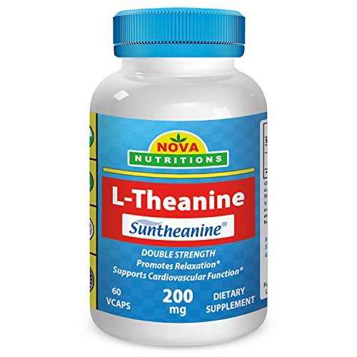 L-Theanine (Suntheanine) 200 mg 60 Vcaps by Nova Nutritions by Nova Nutritions