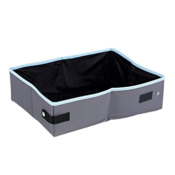 LVCS Caja De Arena para Gatos, Impermeable Plegable Canasta De Mascotas Portátil Baño De Mascotas Apto para Todos Los Gatos (Color : B): Amazon.es: Hogar