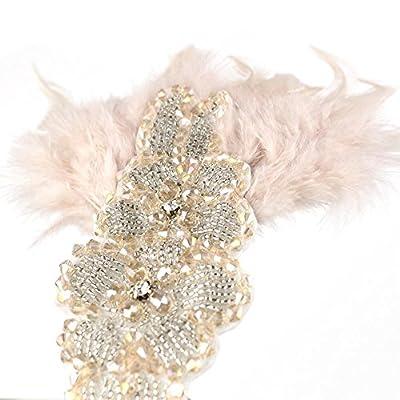HXINFU Vintage Headpiece 1920s Headpiece Great Gatsby Headband For Women